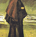 Fishermans Wife On The Beach by Vincent Van Gogh