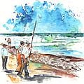 Fishermen In Praia De Mira 02 by Miki De Goodaboom
