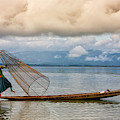 Fishermen In The Inle Lake. Myanmar by David Santiago Garcia