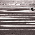 Fishermen On The Atlantic Coast Of France by Peter Scholey