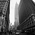 fisheye shot View of the empire state building from West 34th Street and Broadway junction by Joe Fox