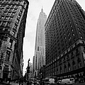 fisheye shot View of the empire state building from West 34th Street and Broadway new york usa by Joe Fox