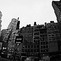 Fisheye View Of 34th Street From 1 Penn Plaza New York City Usa by Joe Fox