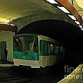 Fisheye View Of Paris Subway Train by John Malone