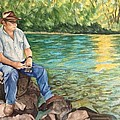 Fishing At Aviemore by Lynne Hurd Bryant