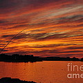 Fishing At Sunset No. One by Andrea Kollo