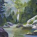 Fishing At The Falls by Gloria Condon