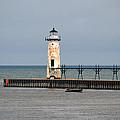 Fishing Boat And Lighthouse by Linda Kerkau