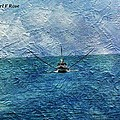 Fishing Boat As A Painting 2 by Karl Rose