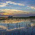 Fishing Boat At The Lake by Debra and Dave Vanderlaan