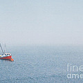 Fishing Boat In Fog by Mary and Curt Johnston