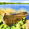 Fishing Boat Kizhi Island by Glen Glancy