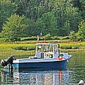 Fishing Boat Cape Neddick Maine by Michael Saunders