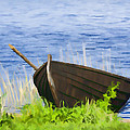 Fishing Boat On The Volga by Glen Glancy