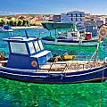 Fishing Boat On Turquoise Sea by Brch Photography