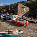 Fishing Boats At Mullion Cove by Louise Heusinkveld