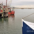 Fishing Boats At Pier by Janice Drew
