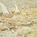 Fishing boats at Saintes Maries de la Mer by Vincent van Gogh