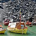 Fishing Boats At The Volcano by Brenda Kean