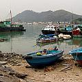 Fishing Boats - Hong Kong by Ian Mcadie