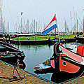 Fishing Boats In Enkhuizen-netherlands by Ruth Hager