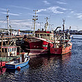 Fishing Boats In Killybegs Donegal Ireland by Bill Cannon