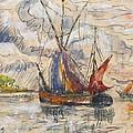Fishing Boats In La Rochelle by Paul Signac