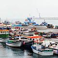 Fishing Boats Moored At A Harbor, Ponta by Panoramic Images
