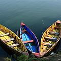 Fishing Boats - Nepal by Aidan Moran