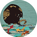 Fishing Cat Black by Mary Atchison