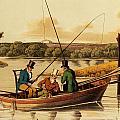 Fishing In A Punt by Henry Thomas Alken