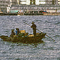 Fishing In Hong Kong Vintage  by Cathy Anderson