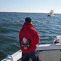 Fishing In Rough Seas by John Telfer