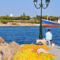 Fishing In Spetses Town by George Atsametakis