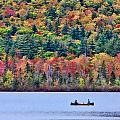 Fishing In The Fall Colors On Lake Chocorua by Jeff Folger
