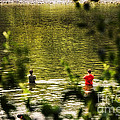 Fishing In The Pond by Thomas Woolworth