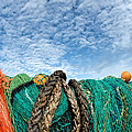 Fishing Nets And Alto-cumulus Clouds by Susie Peek