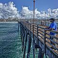 Fishing On Oceanside Pier by Diana Powell