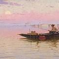 Fishing On The Lagoon, Venice, C.1890 by Walter Blackman