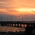 Fishing Pier Sunrise by Leticia Latocki