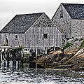 Fishing Sheds At Peggy's Cove by Gene Norris