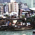 Fishing Village Digital Painting by Cathy Anderson