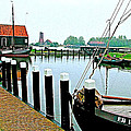 Fishing Village Marina In Zuiderzee Open Air Musuem In Enkhuizen-netherlands by Ruth Hager