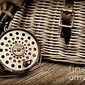 Fishing - Vintage Fly Fishing - Black And White by Paul Ward