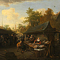 Fishmarket by Cornelis Dusart