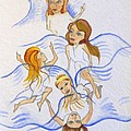Five Angels Hanging Around  by Kenneth Michur