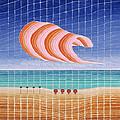 Five Beach Umbrellas by Jesse Jackson Brown
