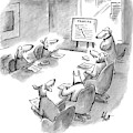 Five Dogs Sit Around An Office Meeting Table by Frank Cotham