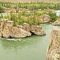 Five Finger Rapids Rocks Yukon River Yt Canada by Stephan Pietzko