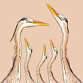 Five Herons by Betsy Knapp
